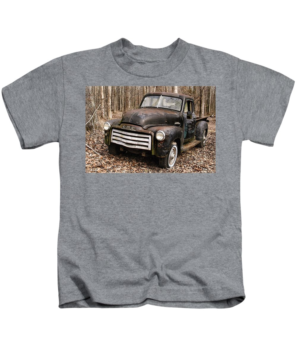 Gmc Kids T-Shirt featuring the photograph Old Timer by Lisha Donald