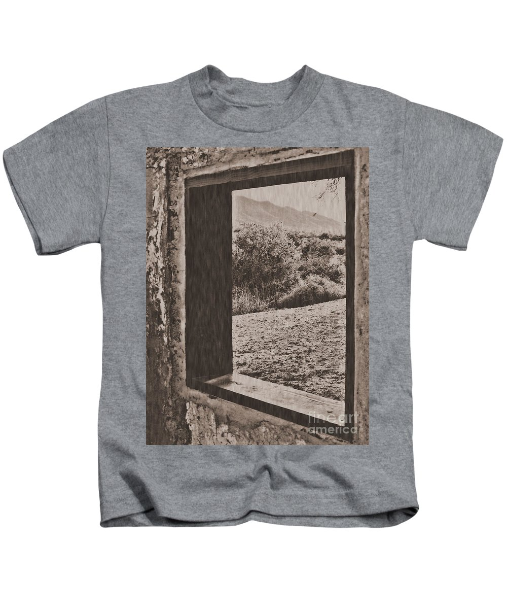 Kids T-Shirt featuring the photograph Old West by Edmund Mazzola