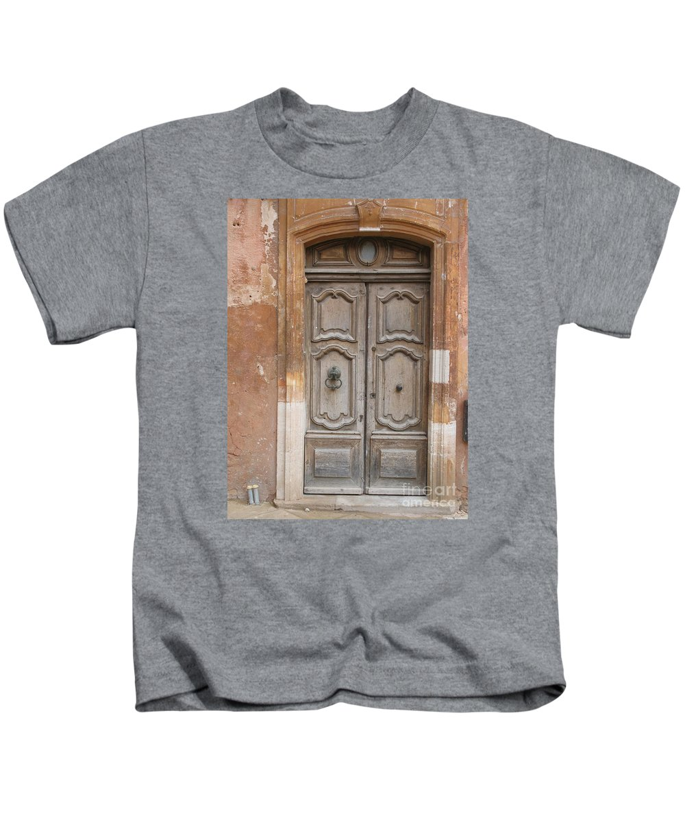 Door Kids T-Shirt featuring the photograph Old Wood Door - France by Christiane Schulze Art And Photography