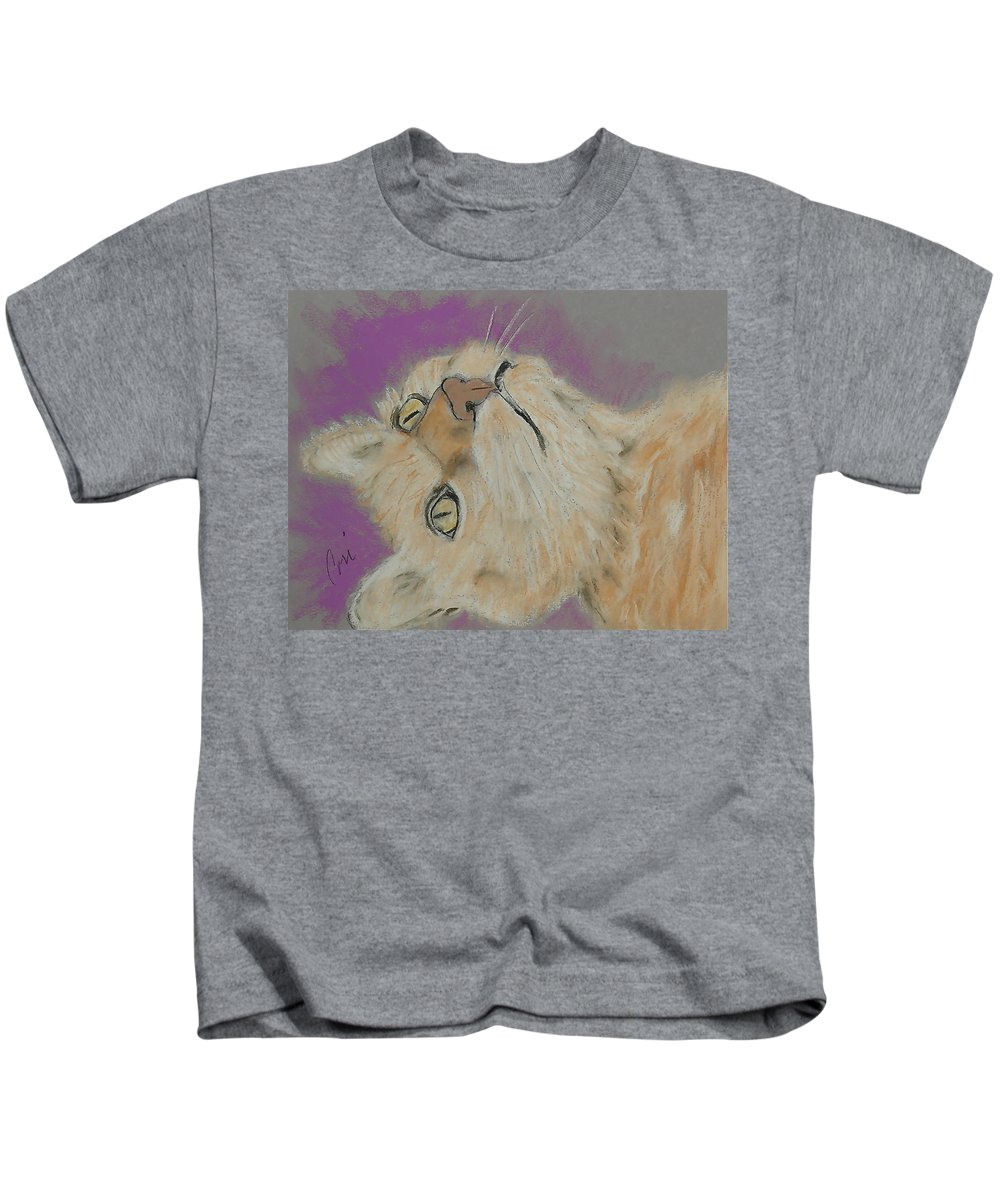 Cat Kids T-Shirt featuring the drawing Oliver by Cori Solomon