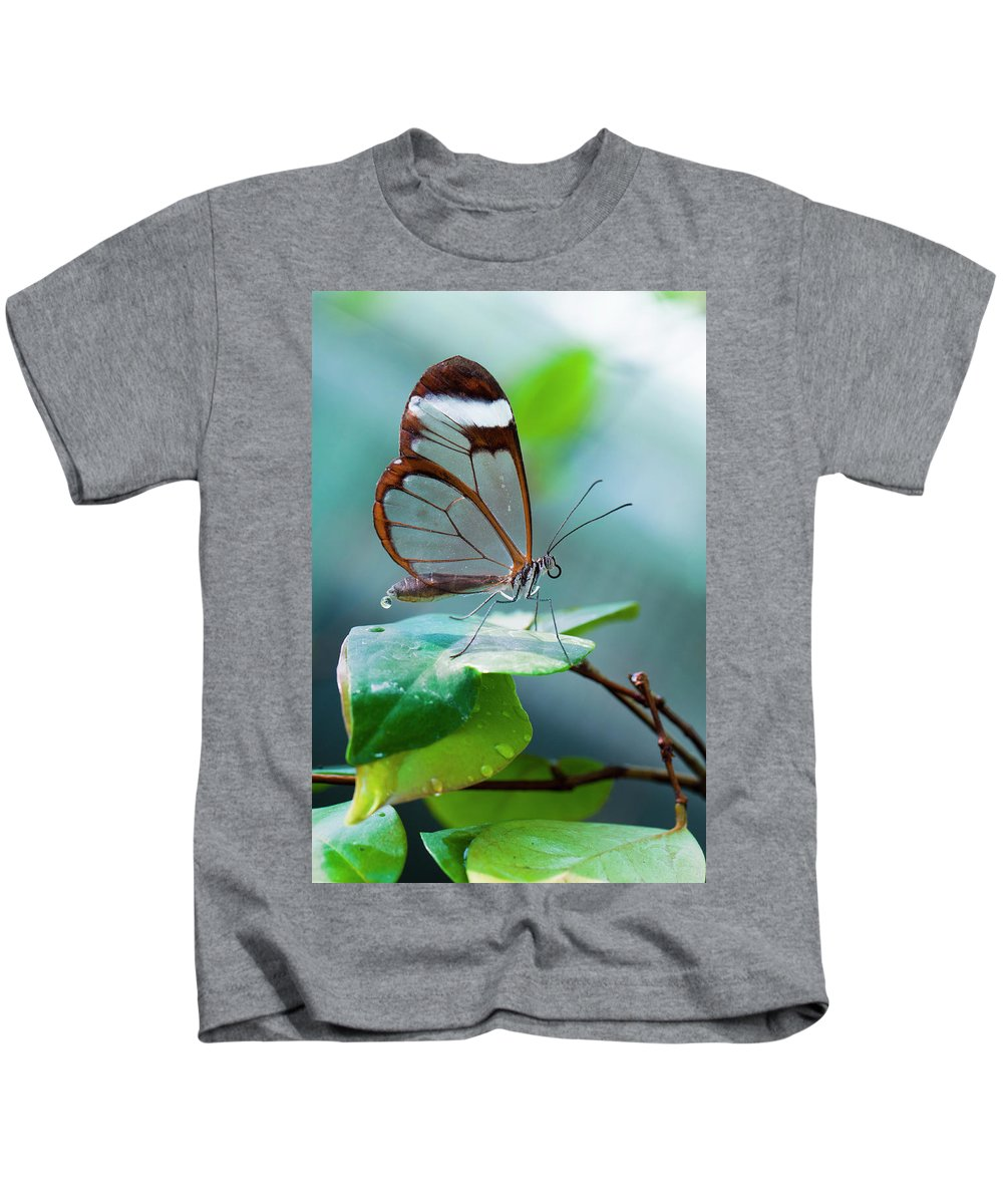 Butterfly Kids T-Shirt featuring the photograph On Top Of The World by Jorn Van Hezik