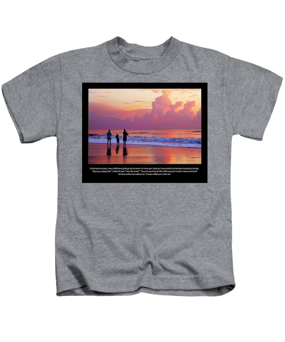 Sunrise Kids T-Shirt featuring the digital art One Saved by Francesa Miller