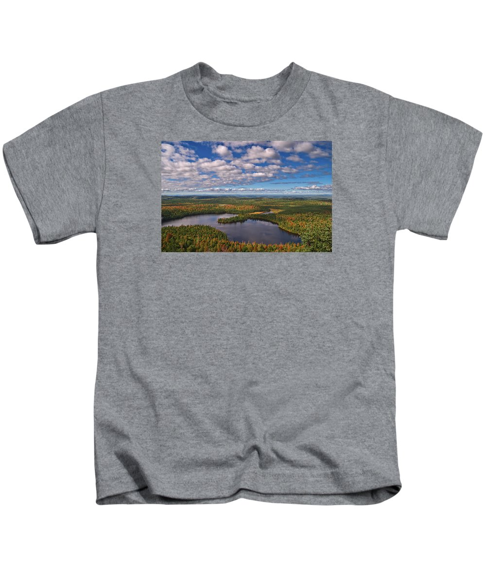 Ontario Kids T-Shirt featuring the photograph Ontario Outlook Vista by Grant Groberg
