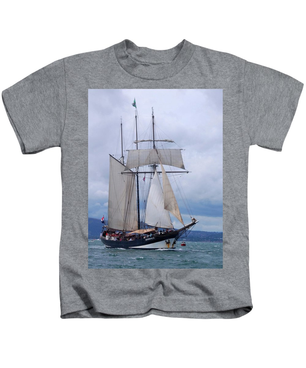 Oosterschelde Kids T-Shirt featuring the photograph Oosterschelde by John Hughes