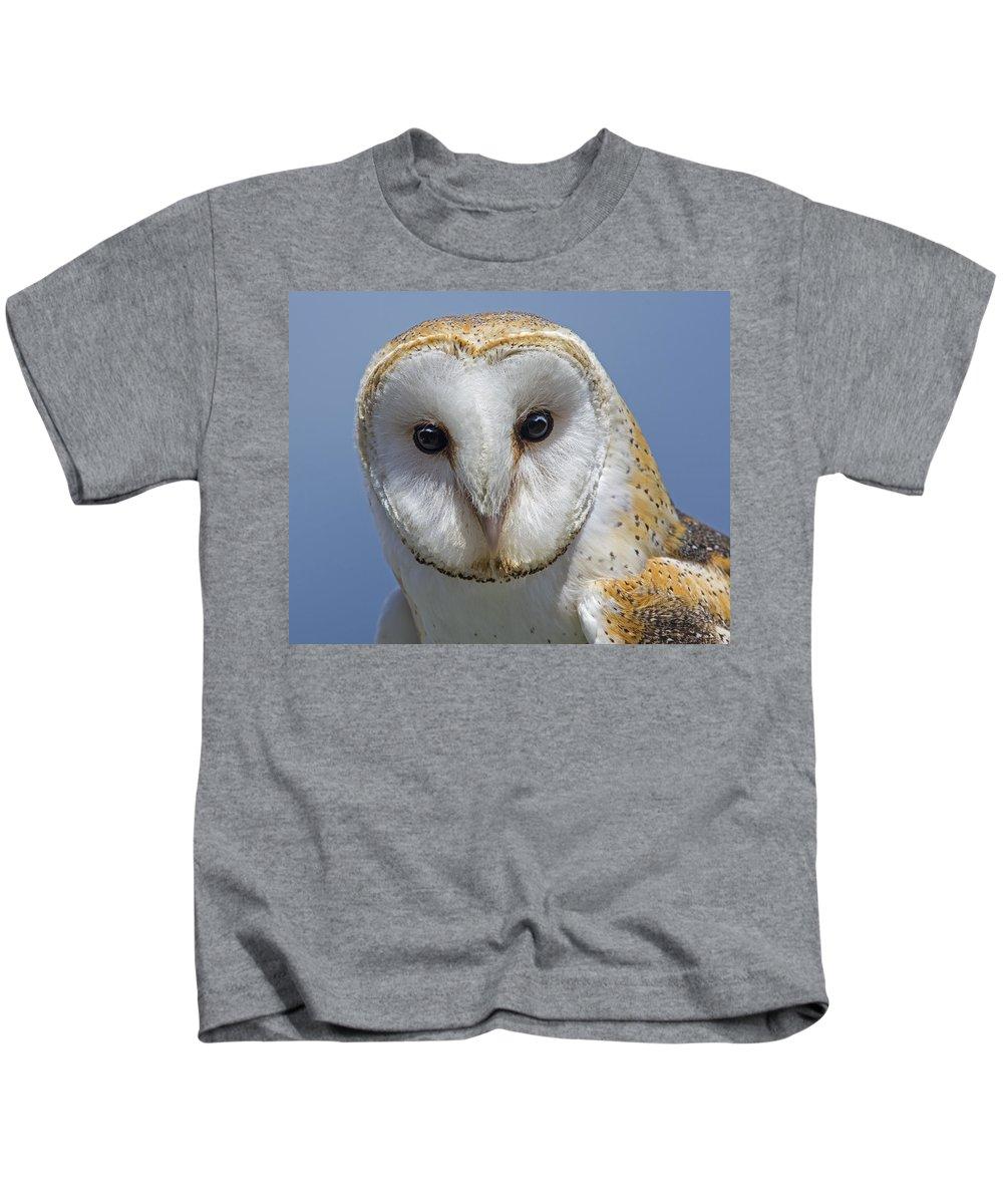 Barn Owl Kids T-Shirt featuring the photograph Open Door by Tony Beck