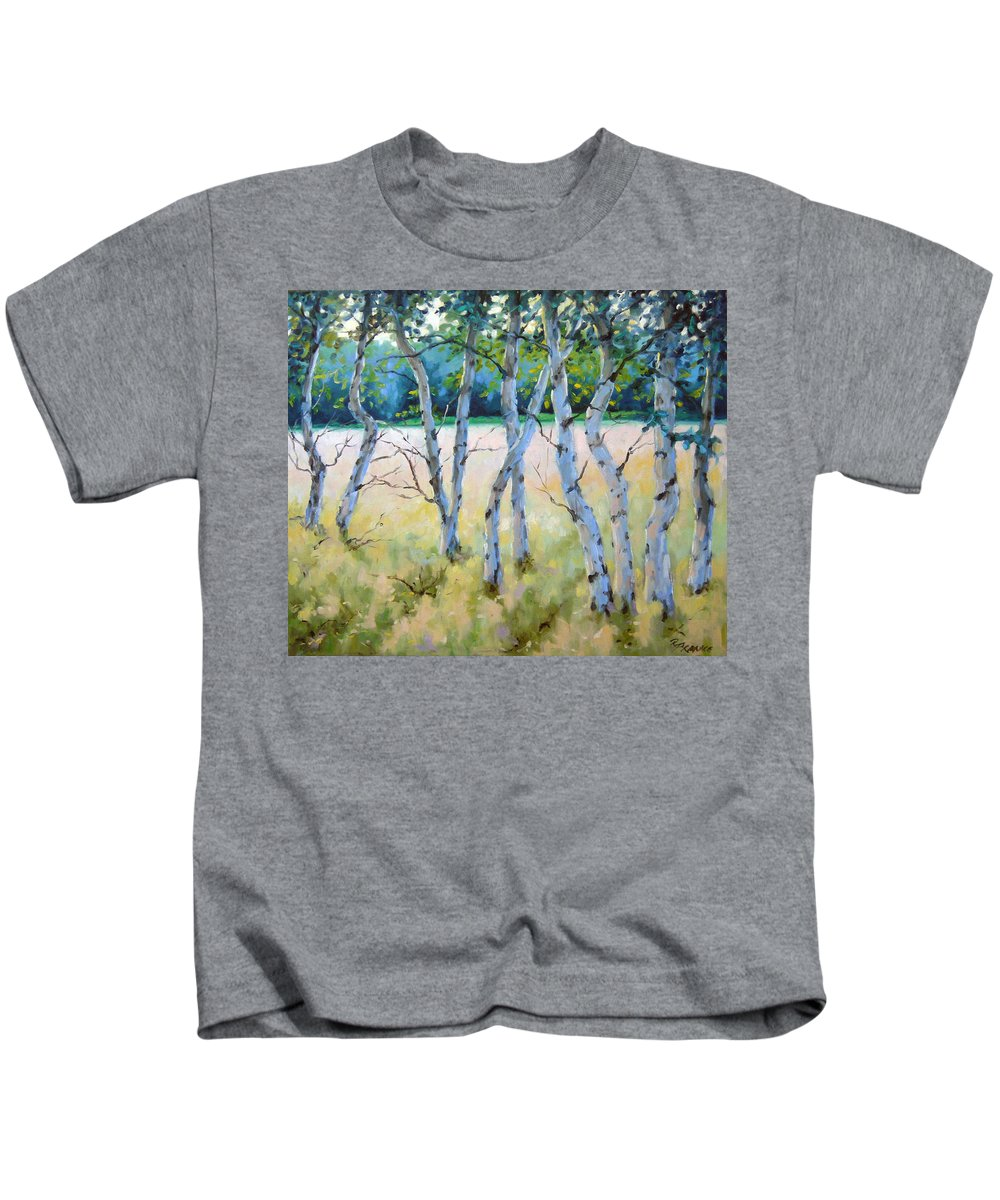 Art Kids T-Shirt featuring the painting Opus No 4 by Richard T Pranke