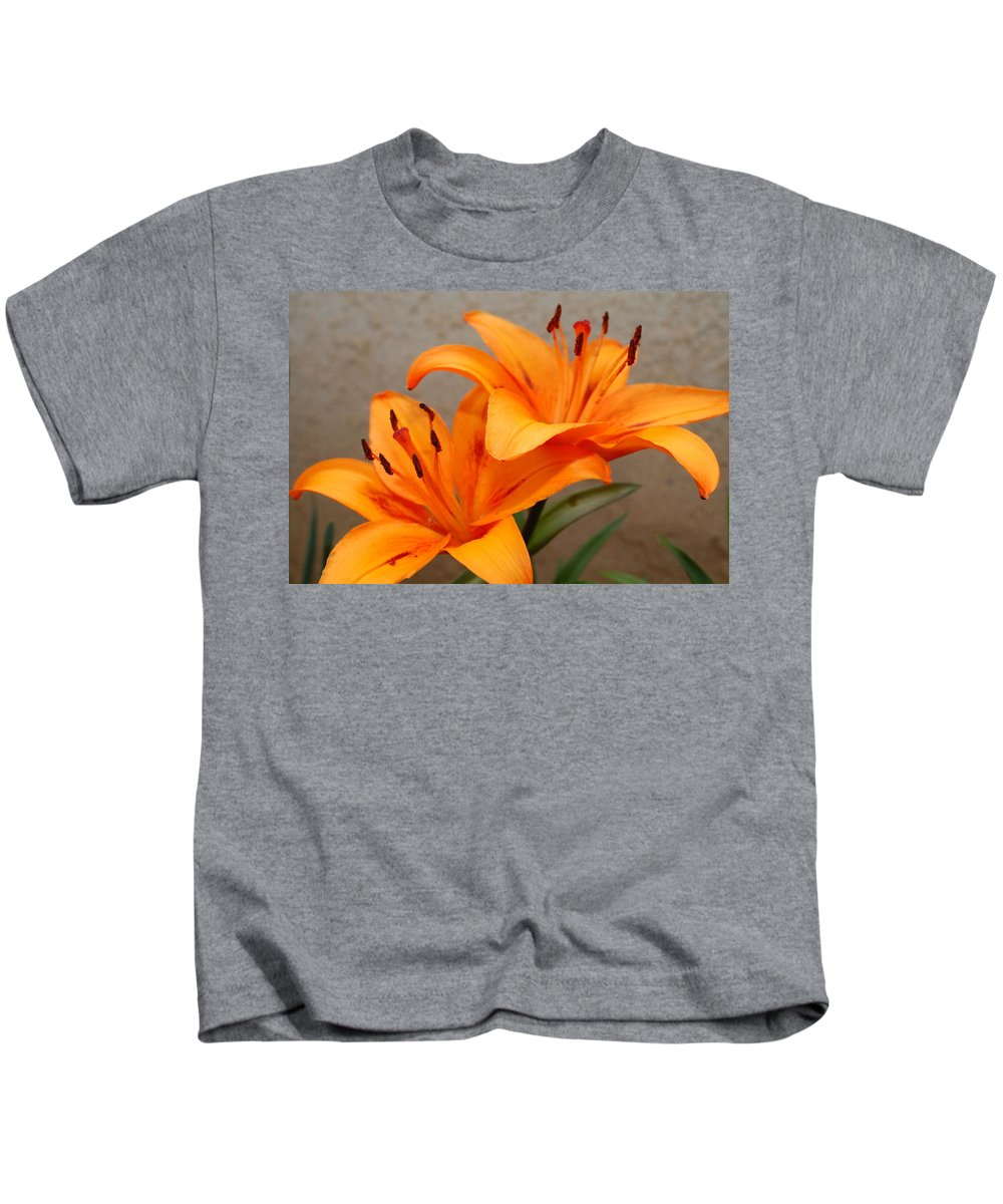 Flower Kids T-Shirt featuring the photograph Orange Lilies 2 by Amy Fose