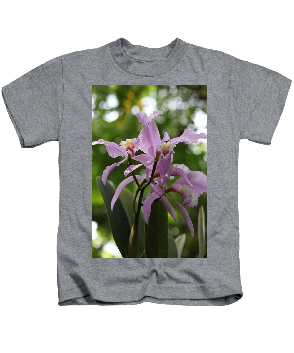 Flowers Kids T-Shirt featuring the photograph Orchids by Thomas Pipia
