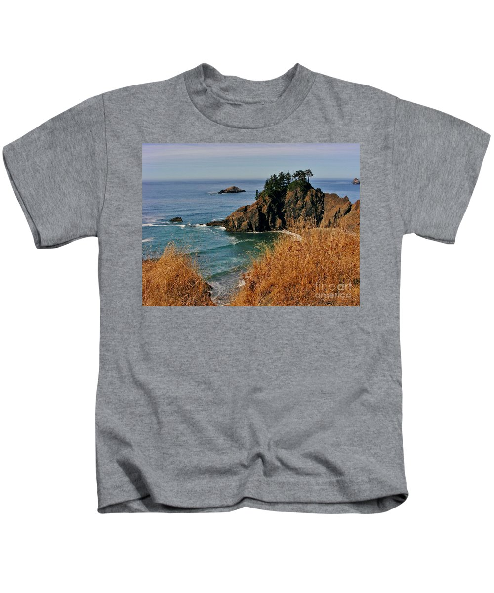 Ocean View Kids T-Shirt featuring the photograph Oregon Coast by Marilyn Smith
