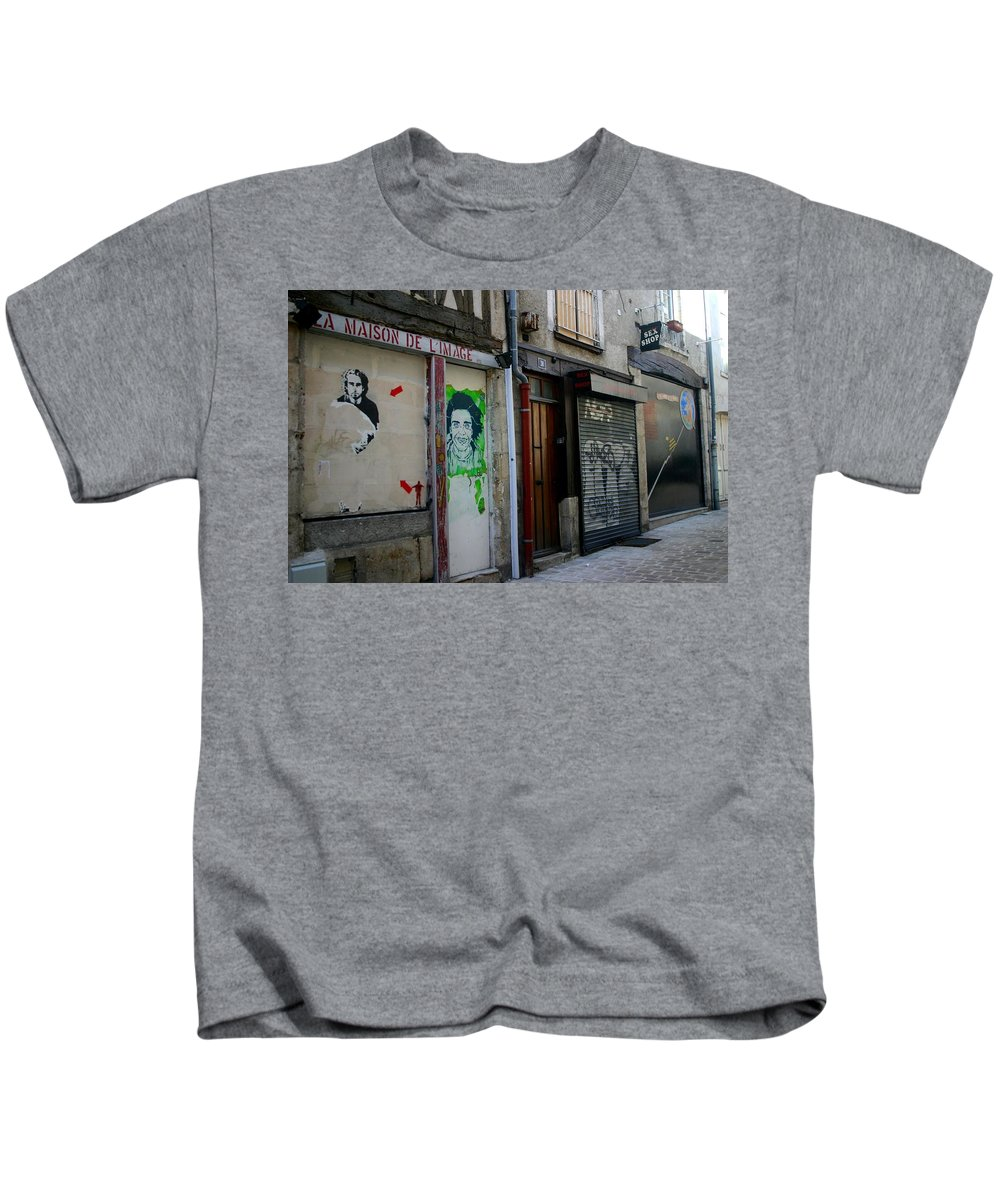 Alley Kids T-Shirt featuring the photograph Orleans France Alley by Minaz Jantz