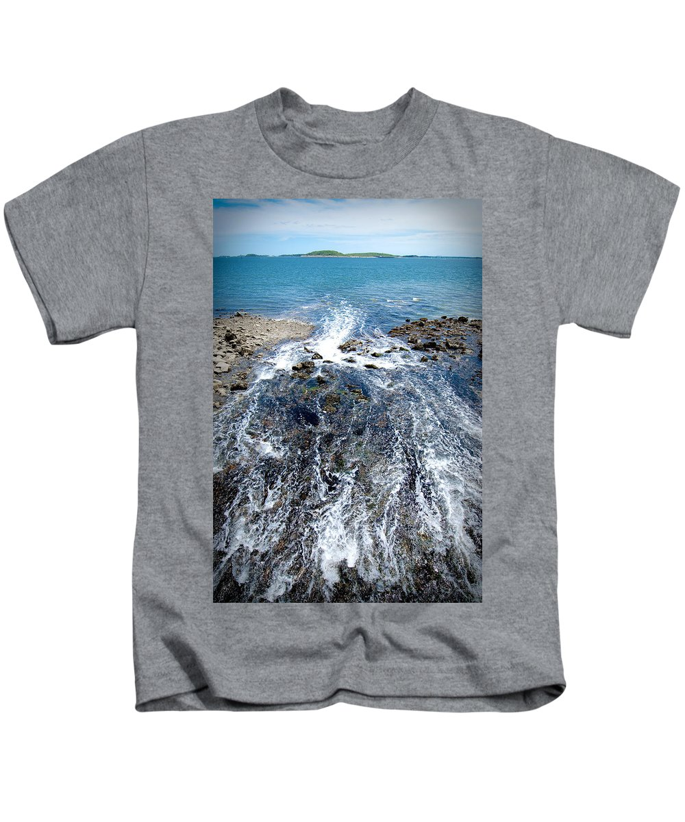 Ocean Kids T-Shirt featuring the photograph Out To Sea by Greg Fortier