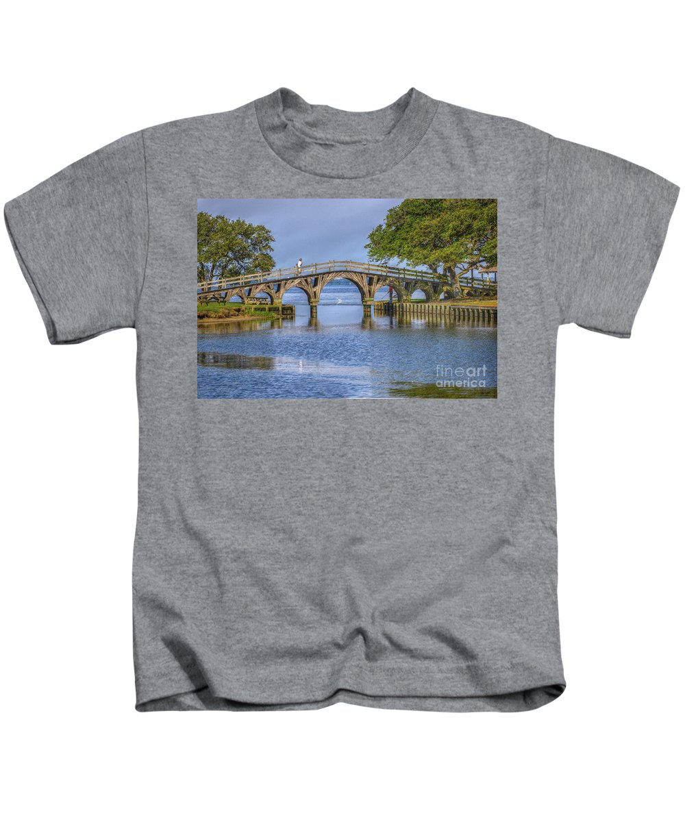 Summer Kids T-Shirt featuring the photograph Outer Banks Whalehead Club Bridge by Randy Steele