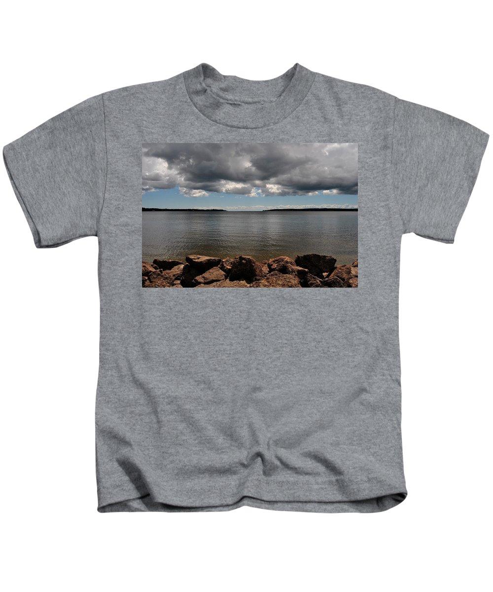 Charlottetown Kids T-Shirt featuring the photograph Overcast by Kathleen Sartoris