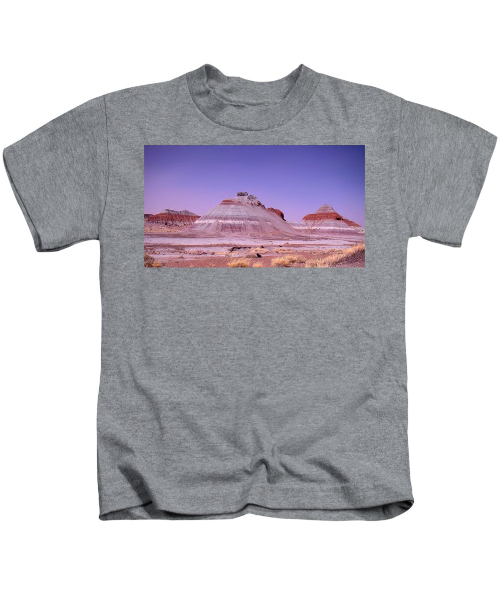 Painted Desert Kids T-Shirt featuring the photograph Painted Desert Tepees by Merja Waters