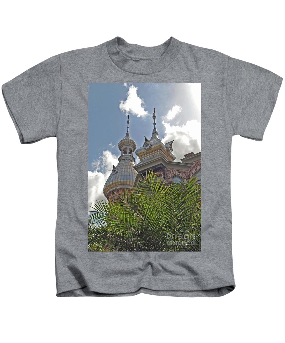 University Of Tampa Kids T-Shirt featuring the photograph Palm Of The Dome by Jost Houk