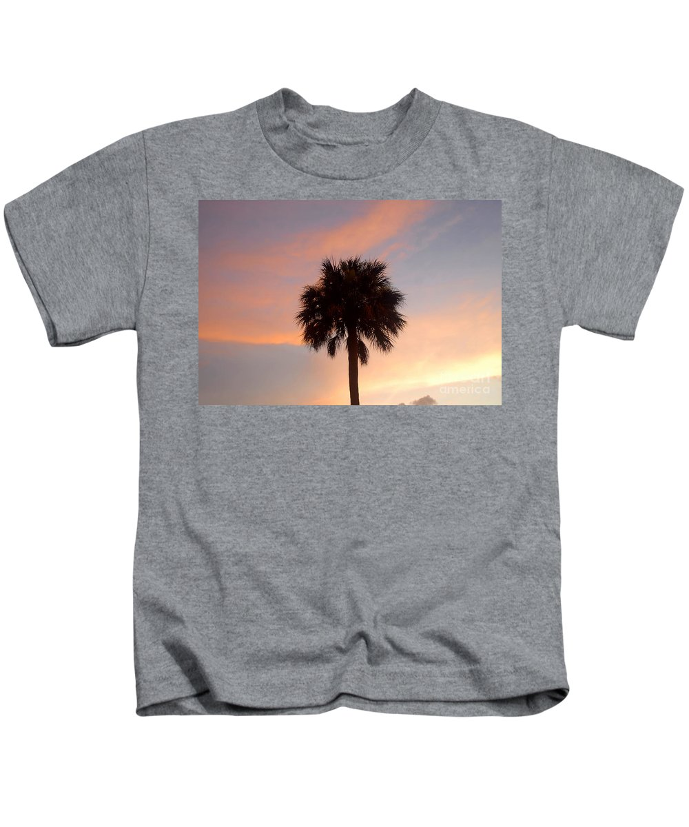 Palm Tree Kids T-Shirt featuring the photograph Palm Sky by David Lee Thompson