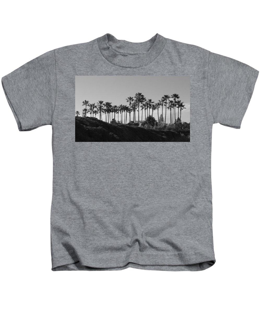 Landscapes Kids T-Shirt featuring the photograph Palms by Shari Chavira