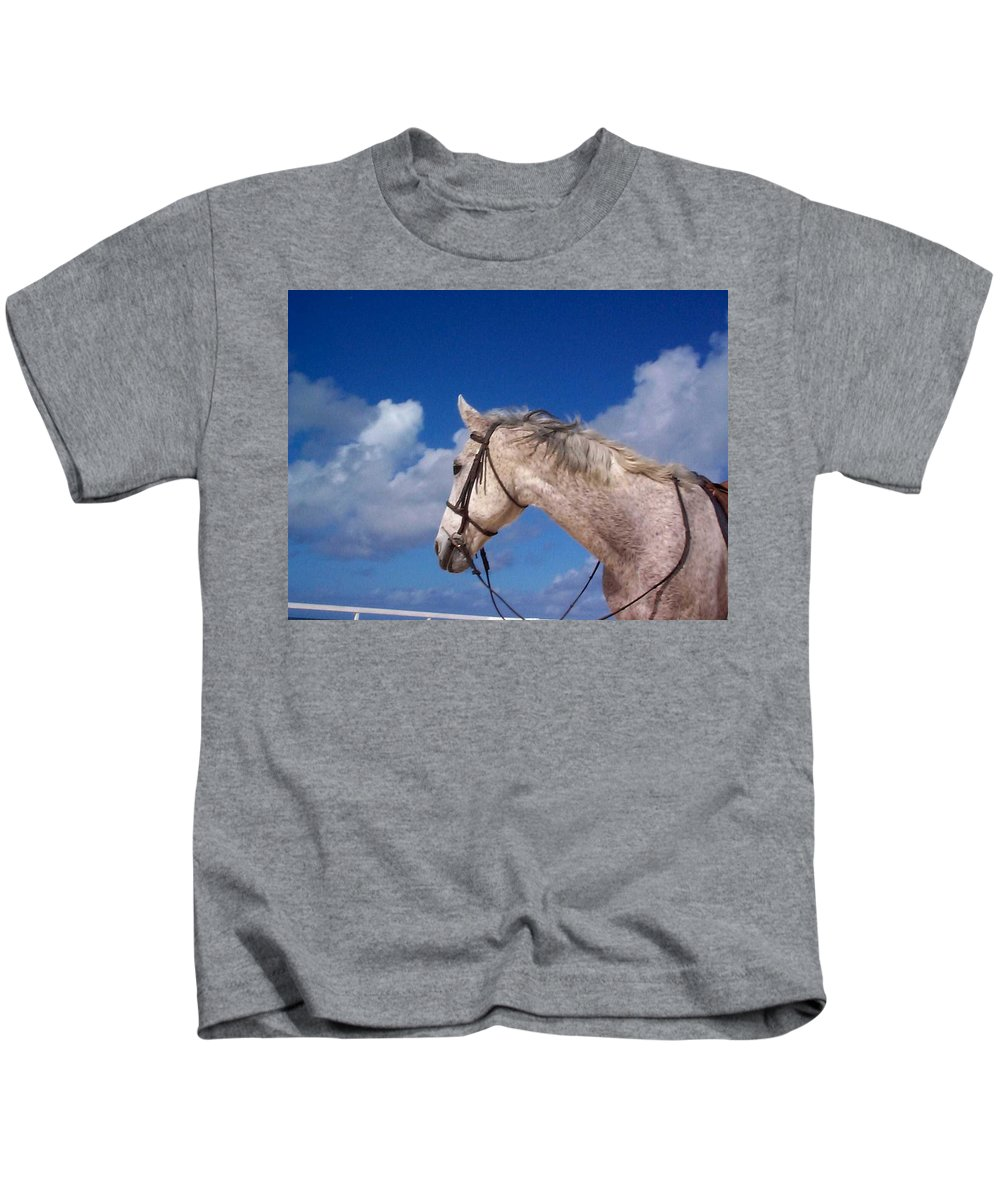 Charity Kids T-Shirt featuring the photograph Pancho by Mary-Lee Sanders