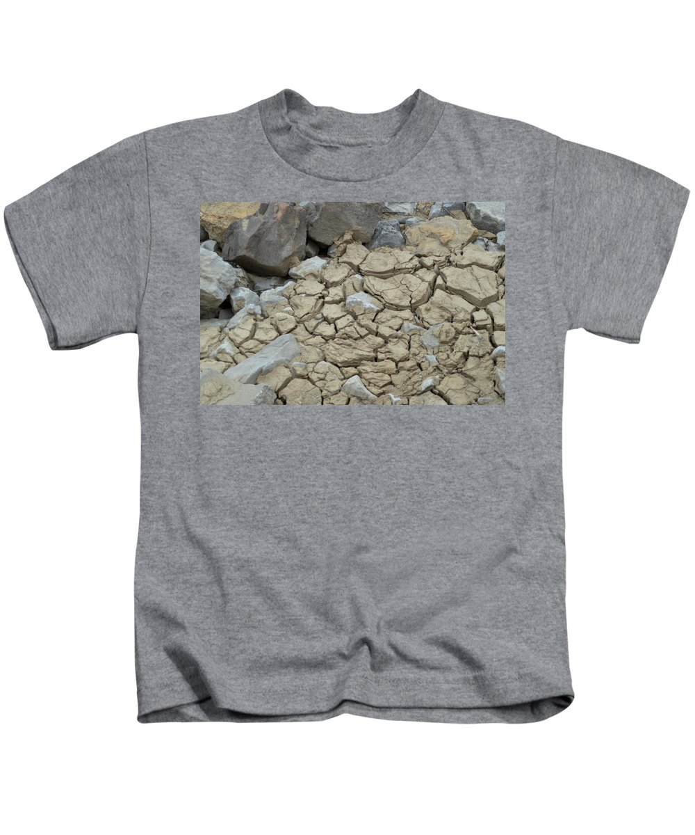 Ground Kids T-Shirt featuring the photograph Parched Earth by Belinda Stucki
