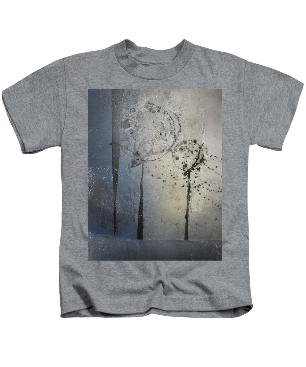 Canvas Kids T-Shirt featuring the painting Park Lights by Leah Hicks