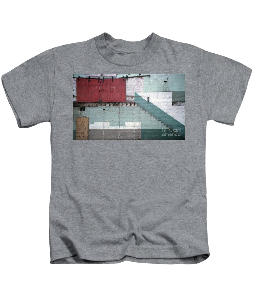 Abstract Kids T-Shirt featuring the photograph Partial Demolition by Richard Rizzo