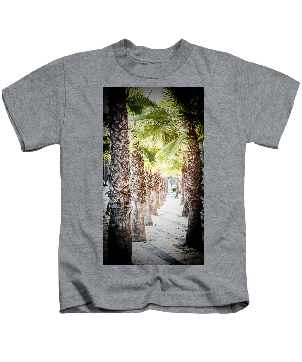 Kids T-Shirt featuring the photograph Pass Of Palms by Ronald Wasp