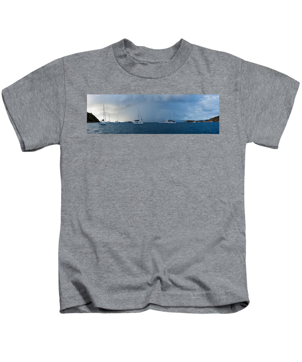 3scape Photos Kids T-Shirt featuring the photograph Passing Storm by Adam Romanowicz