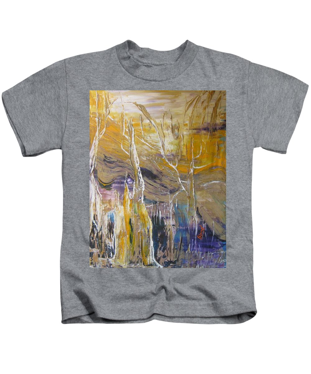 Swamp Kids T-Shirt featuring the painting Passing Through by Peggy Blood