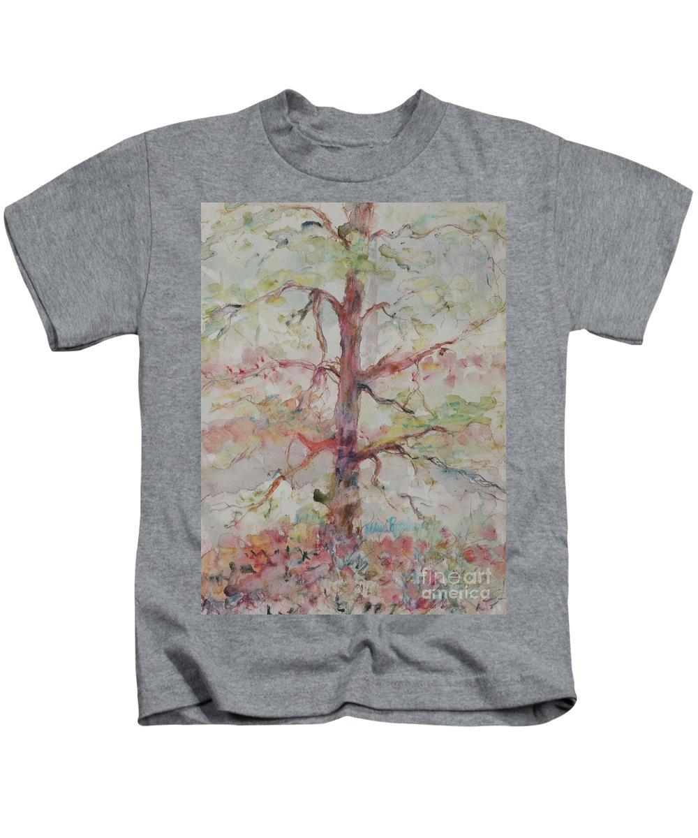 Forest Kids T-Shirt featuring the painting Pastel Forest by Nadine Rippelmeyer