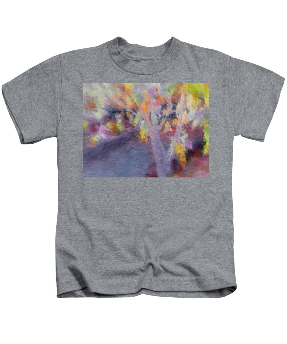 Leaf Kids T-Shirt featuring the photograph Pastel Leaves by Don Zawadiwsky