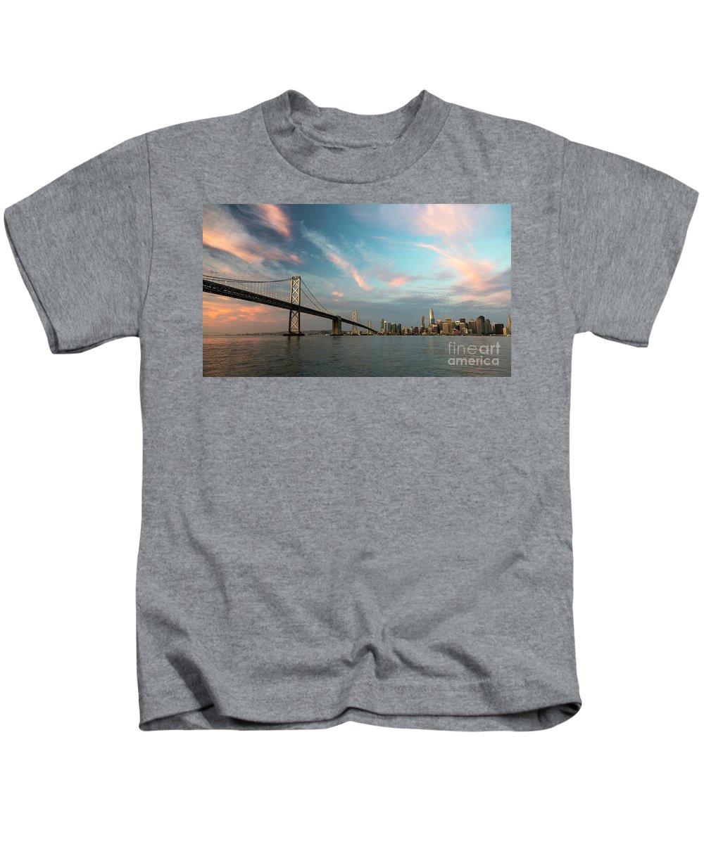 Salesforce Kids T-Shirt featuring the photograph Pastel San Francisco Sunrise by Hugh Stickney