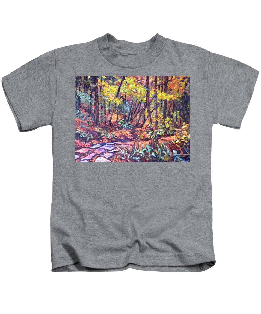 Landscape Kids T-Shirt featuring the painting Path Near Pandapas by Kendall Kessler