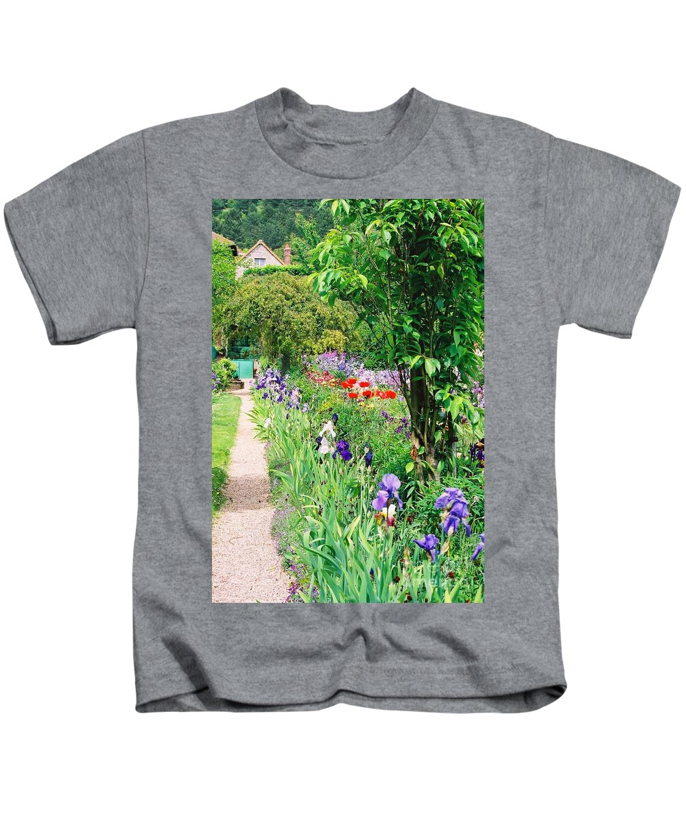 Claude Monet Kids T-Shirt featuring the photograph Path To Monet's House by Nadine Rippelmeyer