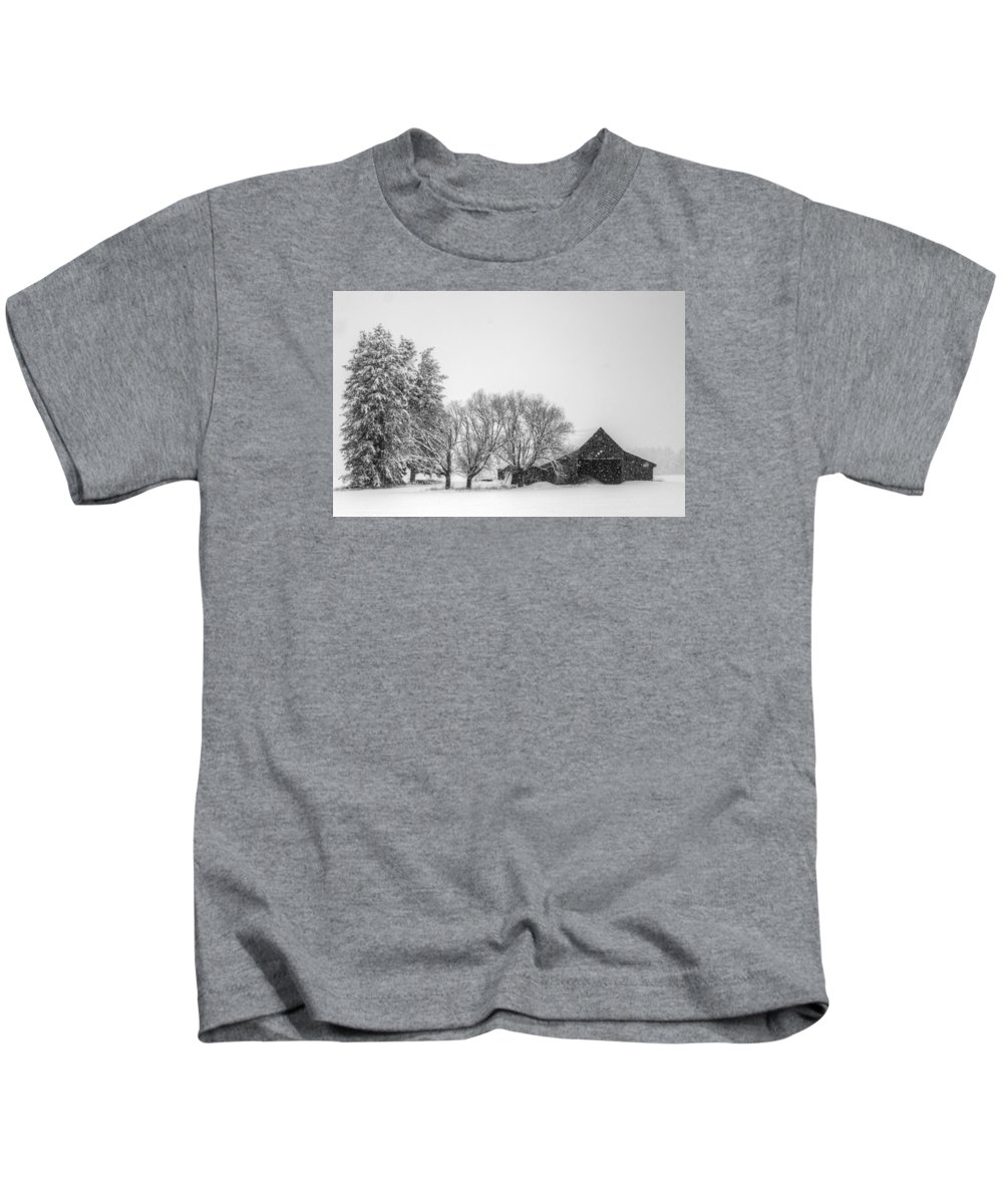 Barn Kids T-Shirt featuring the photograph Peaceful Barn by Wild Fire