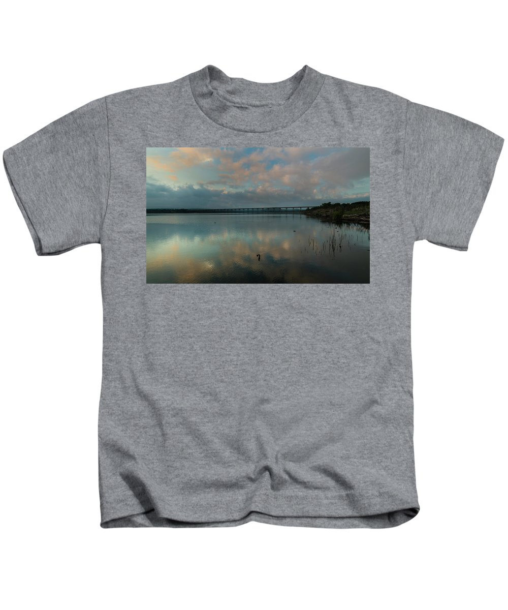 Peaceful Waters Kids T-Shirt featuring the photograph Peaceful Waters by Bob Marquis