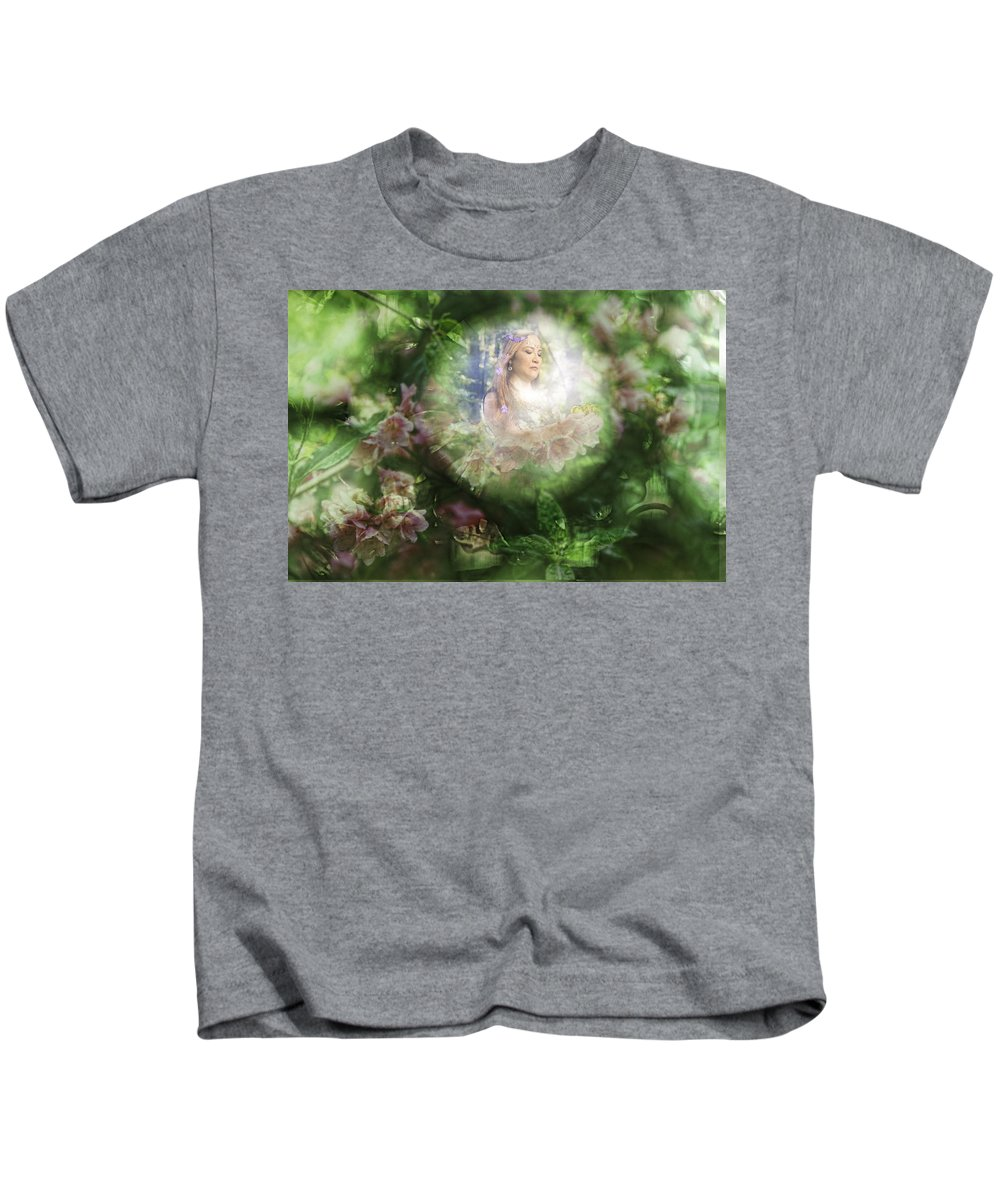 Sharon Popek Kids T-Shirt featuring the photograph Peaking At Earth by Sharon Popek