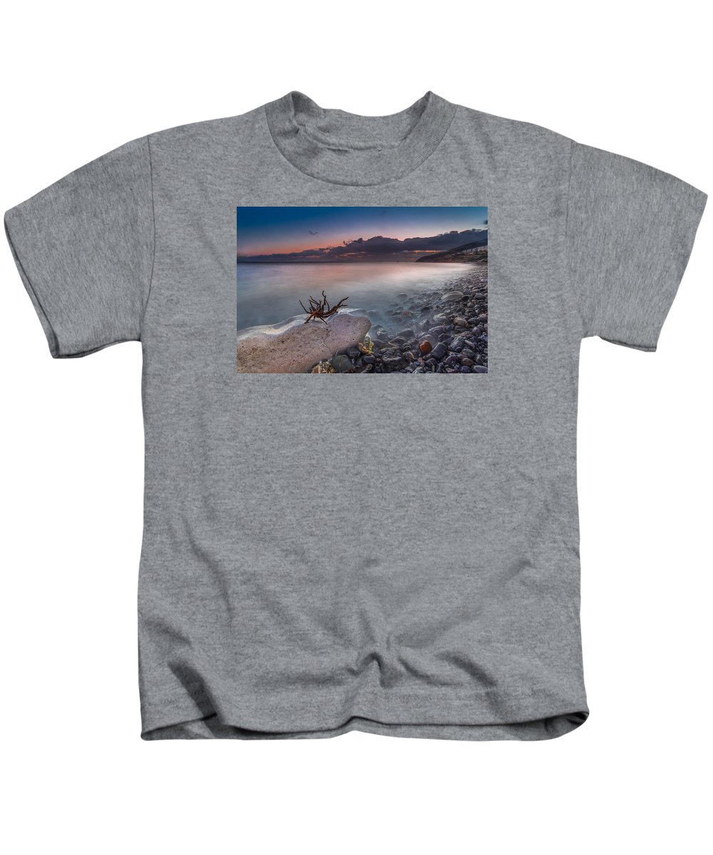 Sky Kids T-Shirt featuring the photograph Pebble Beach by Mike Drosos
