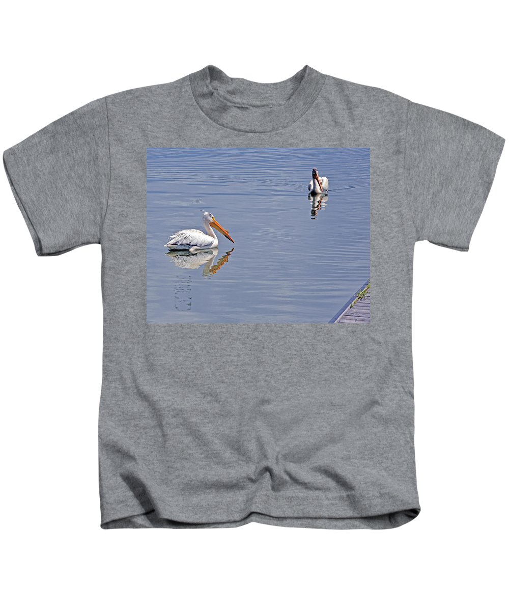 Pelican Kids T-Shirt featuring the photograph Pelican Mates by Terry Anderson
