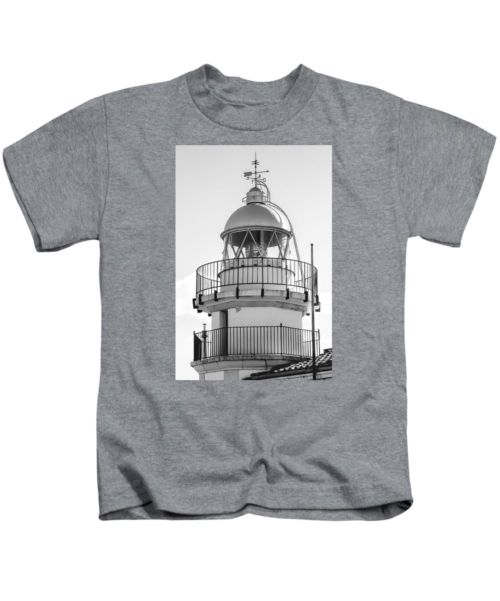 Lighthouse Kids T-Shirt featuring the photograph Peniscola Lighthouse Of Spain by Daniel Hagerman