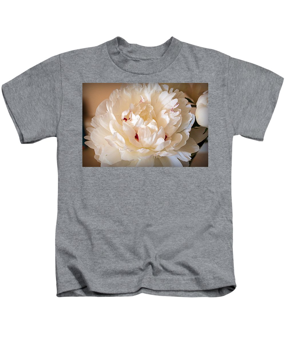 Peony Kids T-Shirt featuring the photograph Peony by Cricket Hackmann