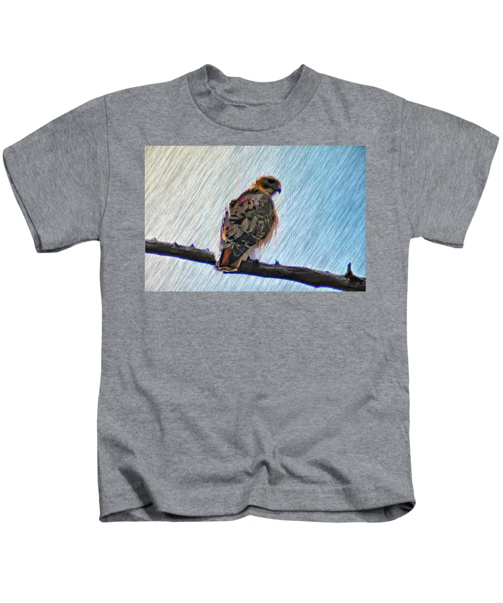 Peregrine Kids T-Shirt featuring the photograph Peregrine Falcon by Bill Cannon