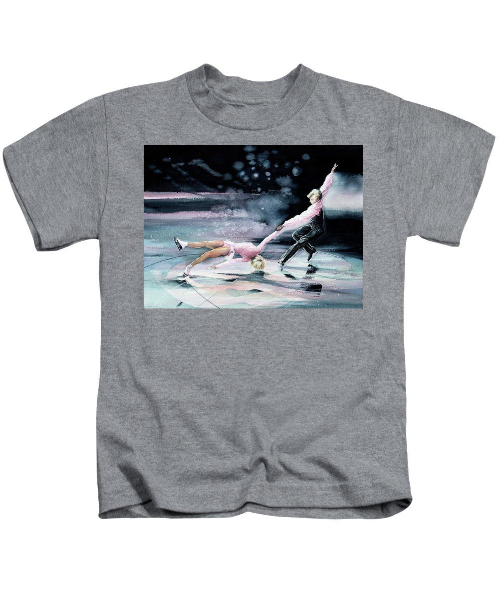 Sports Art Kids T-Shirt featuring the painting Perfect Harmony by Hanne Lore Koehler