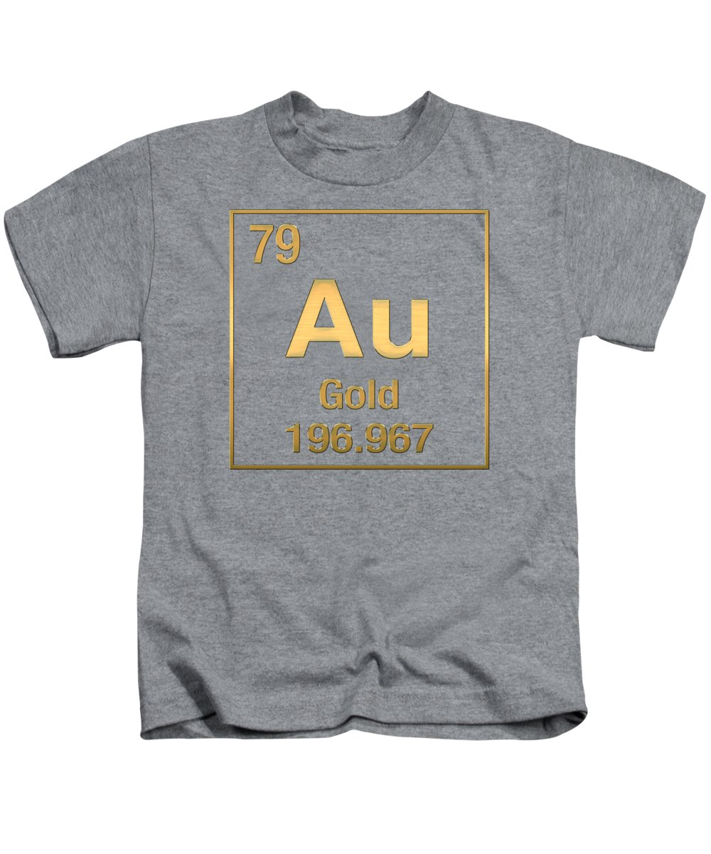 Periodic table of elements gold au gold on gold kids t shirt the elements collection by serge averbukh kids t shirt featuring the digital art urtaz Gallery