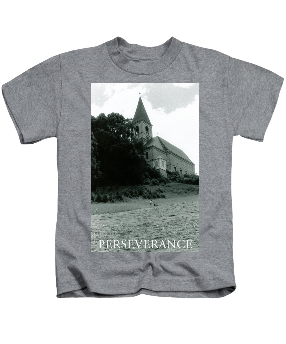 Church Kids T-Shirt featuring the photograph Perseverance by Michelle Calkins