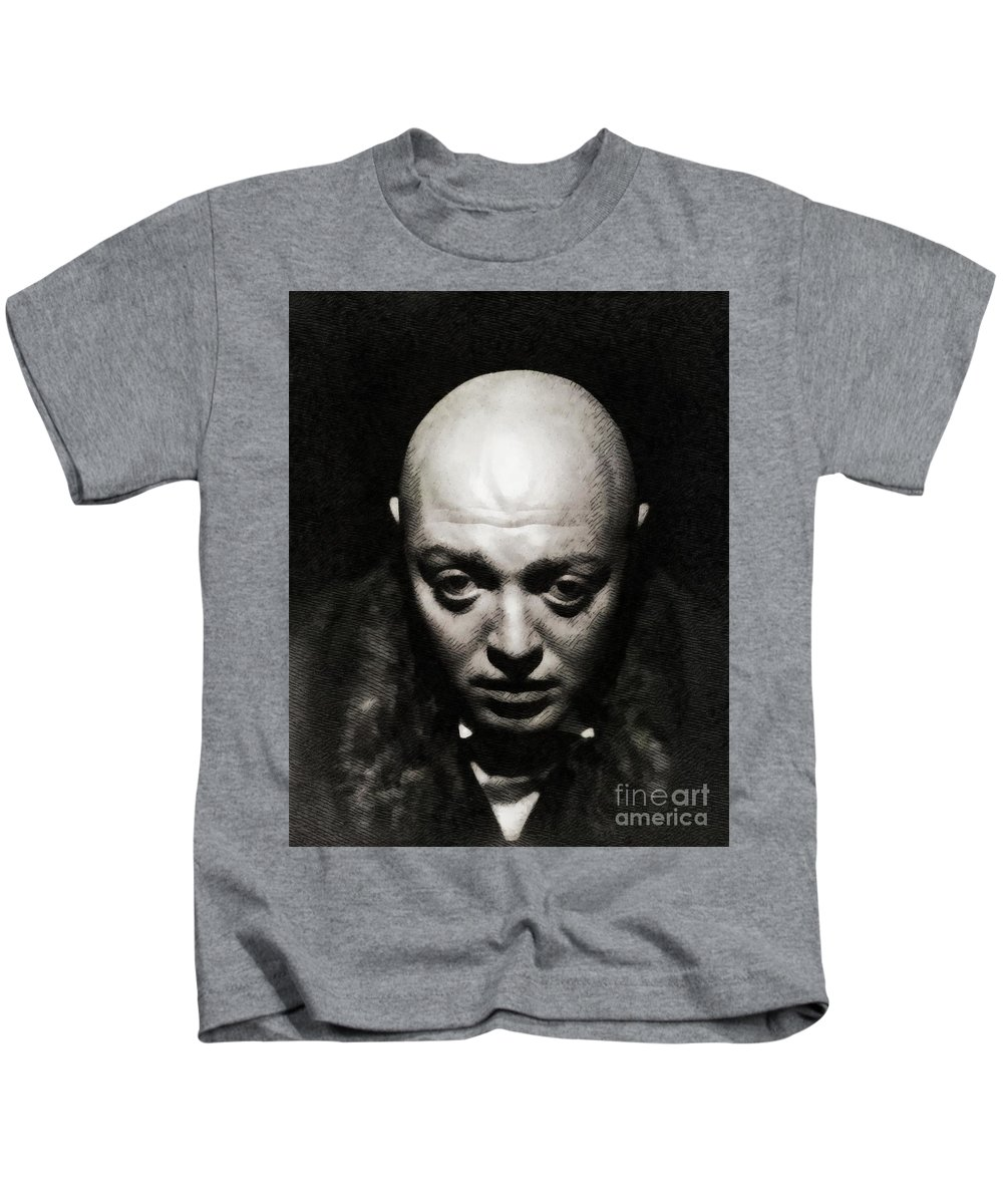 Peter Kids T-Shirt featuring the painting Peter Lorre, Vintage Actor by John Springfield