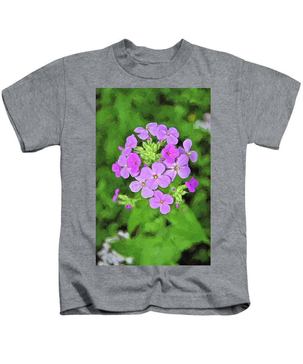 Phlox Kids T-Shirt featuring the digital art Phlox For You by Anita Hubbard