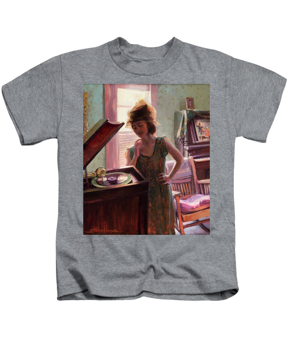Phonograph Paintings Kids T-Shirts