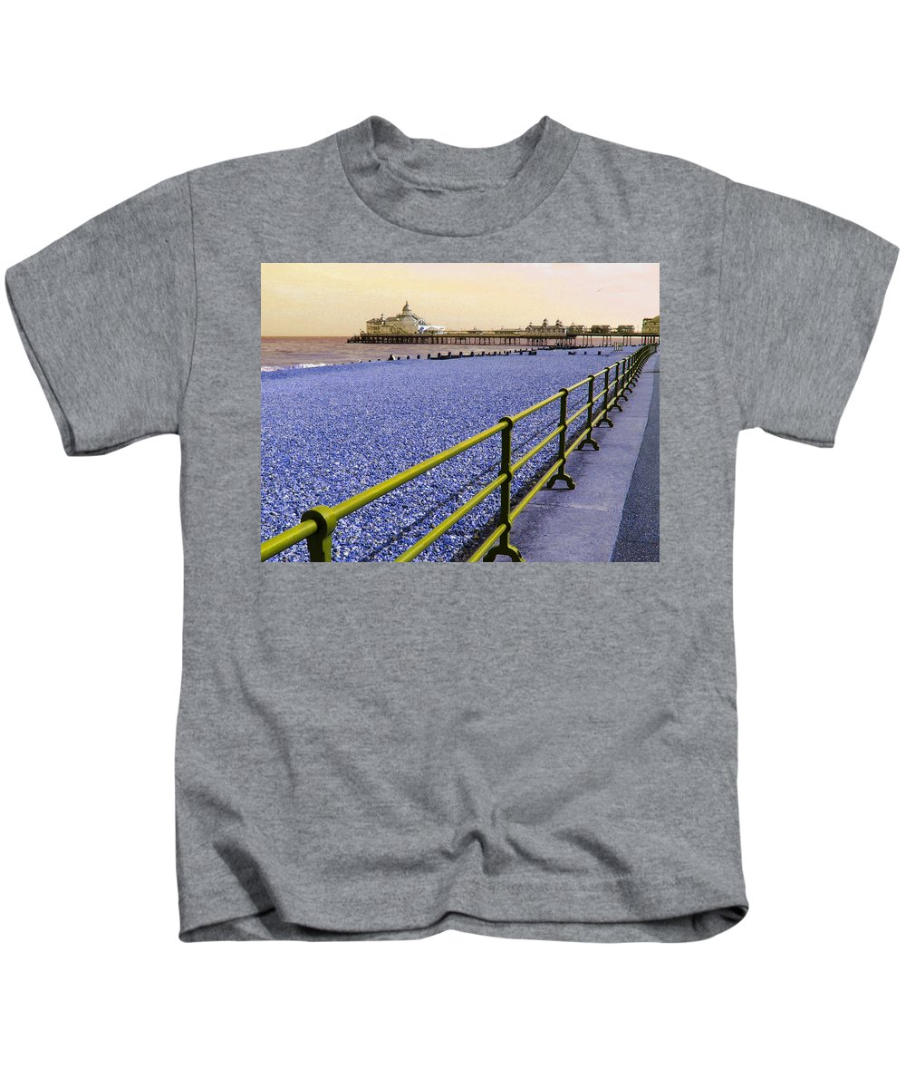Pier Kids T-Shirt featuring the photograph Pier View England by Heather Lennox