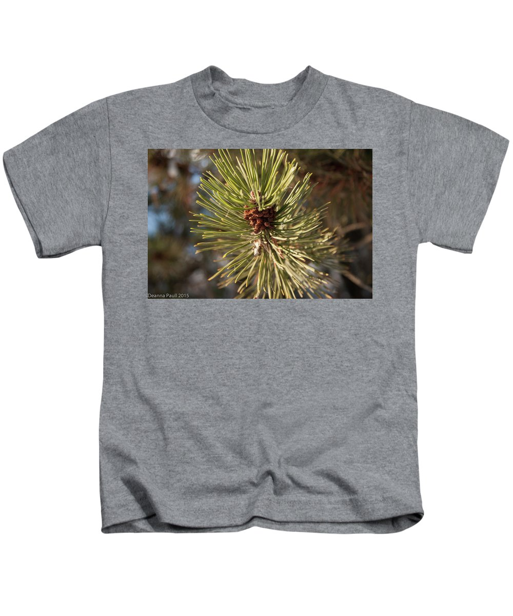 Nature Kids T-Shirt featuring the photograph Pine by Deanna Paull