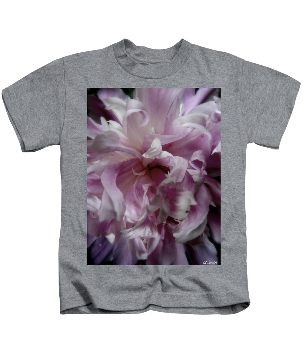 Still Life Kids T-Shirt featuring the photograph Pink And Purple by Ed Smith